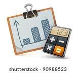 vector illustration of business ... | Shutterstock .eps vector #90988523