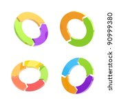 set of four glossy circled... | Shutterstock . vector #90999380