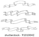 vector hand drawn vintage... | Shutterstock .eps vector #91010042