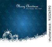 christmas card | Shutterstock .eps vector #91026590