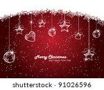 vintage christmas card | Shutterstock .eps vector #91026596