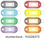 simple key rings in different... | Shutterstock .eps vector #91028375