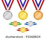 medals set 3   Shutterstock .eps vector #91068824
