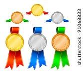medals set 1 | Shutterstock .eps vector #91068833
