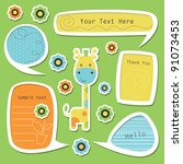 set of cute childlike text... | Shutterstock .eps vector #91073453