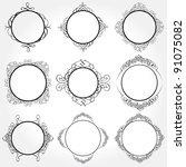 vector frame set ornamental... | Shutterstock .eps vector #91075082