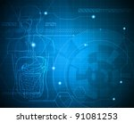 medical background. abstract... | Shutterstock .eps vector #91081253