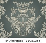 seamless vintage background... | Shutterstock .eps vector #91081355