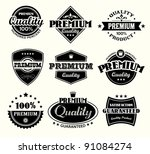 vintage premium quality and... | Shutterstock .eps vector #91084274