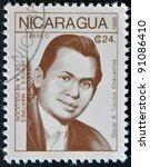 nicaragua   circa 1988  a... | Shutterstock . vector #91086410