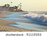 California Beach And Palm Tree...