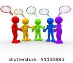 3d people   human character  ... | Shutterstock . vector #91130885