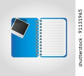 photographs with notes on the... | Shutterstock .eps vector #91131965