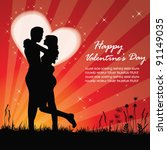 valentine background with... | Shutterstock .eps vector #91149035