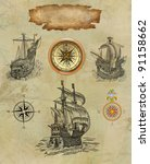 pirate map | Shutterstock . vector #91158662