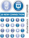 20 new connection buttons set ...   Shutterstock .eps vector #91160468