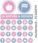 24 nature   design buttons ... | Shutterstock .eps vector #91160474