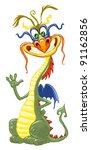 happy dragon | Shutterstock .eps vector #91162856