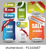 web sale banner collection and... | Shutterstock .eps vector #91163687