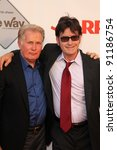 "Small photo of Martin Sheen, Charlie Sheen at the AARP Movies For Grownups Premiere of ""The Way,"" Nokia Theater, Los Angeles, CA 09-23-11"