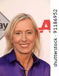 "Small photo of Martina Navratilova at the AARP Movies For Grownups Premiere of ""The Way,"" Nokia Theater, Los Angeles, CA 09-23-11"
