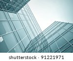 office buildings in the morning ... | Shutterstock . vector #91221971