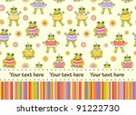 baby greeting card or... | Shutterstock .eps vector #91222730