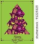 christmas cards   Shutterstock .eps vector #91225325