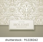 abstract invitation frame... | Shutterstock .eps vector #91228262