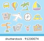 doodle illustration of travel... | Shutterstock .eps vector #91230074