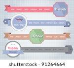 web elements vector header  ... | Shutterstock .eps vector #91264664