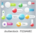 set of vector button banner  ...   Shutterstock .eps vector #91264682
