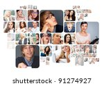 collection of different people... | Shutterstock . vector #91274927