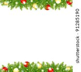 xmas and happy new year border | Shutterstock . vector #91285190