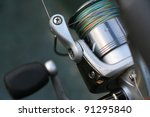 fishing reel with co filament... | Shutterstock . vector #91295840