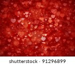 shiny hearts bokeh light... | Shutterstock . vector #91296899