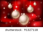 red christmas and new year... | Shutterstock . vector #91327118