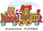gingerbread train a gingerbread ... | Shutterstock .eps vector #91335803