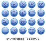 set of 20 shinny high quality... | Shutterstock .eps vector #9135973