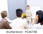 three businesswoman sitting at... | Shutterstock . vector #9136738