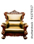 vintage yellow luxury leather... | Shutterstock . vector #91375517