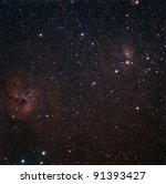IC 417 and NGC 1931 in Auriga - stock photo