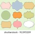 set of vintage frames | Shutterstock .eps vector #91395209