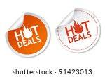 hot deals stickers   Shutterstock .eps vector #91423013