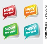 stock vector new year speech... | Shutterstock .eps vector #91432073