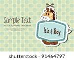 baby boy invitation card | Shutterstock .eps vector #91464797
