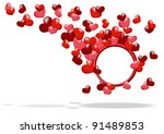 abstract background red hearts