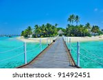 Maldives island - stock photo