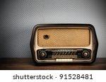 Antique Radio On Vintage...