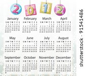 Vector Calendar For 2012  On...